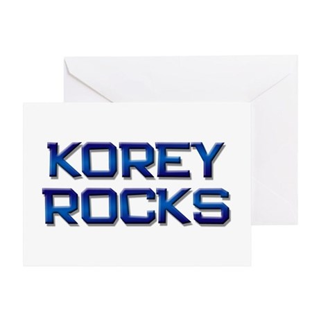 korey rocks Greeting Card