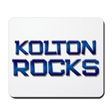 kolton rocks Mousepad