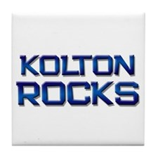 kolton rocks Tile Coaster