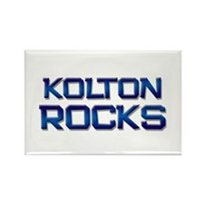 kolton rocks Rectangle Magnet