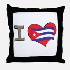 I heart Cuba Throw Pillow