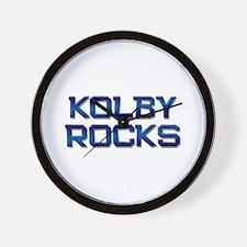 kolby rocks Wall Clock