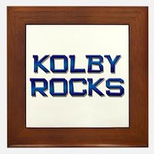kolby rocks Framed Tile