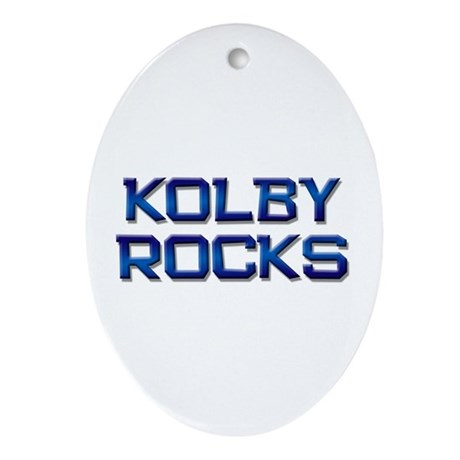 kolby rocks Oval Ornament