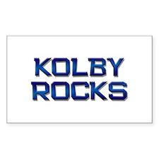 kolby rocks Rectangle Decal