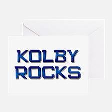 kolby rocks Greeting Card