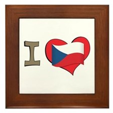 I heart Czech Framed Tile