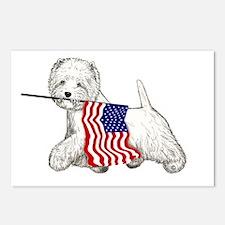 Patriotic Westie Postcards (Package of 8)