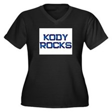 kody rocks Women's Plus Size V-Neck Dark T-Shirt