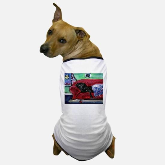 Black Labrador sofa Dog T-Shirt