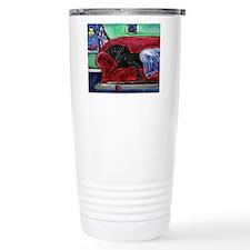 Black Labrador sofa Travel Mug