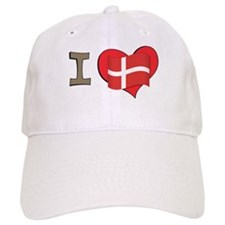 I heart Denmark Baseball Cap