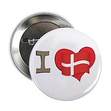 """I heart Denmark 2.25"""" Button"""