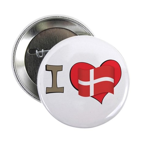 "I heart Denmark 2.25"" Button (100 pack)"