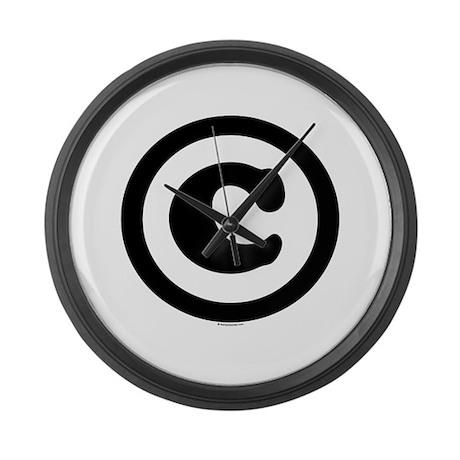 Copyright Symbol Large Wall Clock
