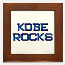 kobe rocks Framed Tile