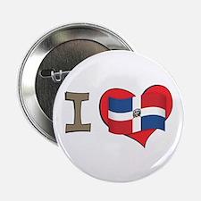 """I heart Dominican Republic 2.25"""" Button"""