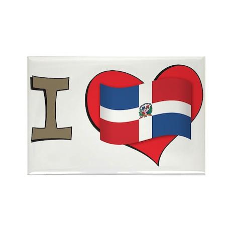 I heart Dominican Republic Rectangle Magnet (100 p