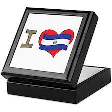 I heart El Salvador Keepsake Box