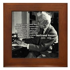 Philosophy Bertrand Russell Framed Tile