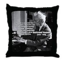 Philosophy Bertrand Russell Throw Pillow