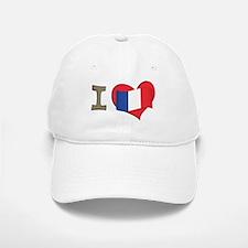 I heart France Baseball Baseball Cap