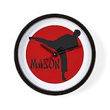 Karate sons Wall Clocks