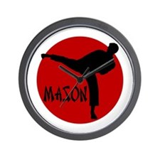 -Mason Karate Wall Clock