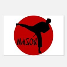 -Mason Karate Postcards (Package of 8)