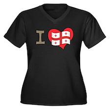 I heart Georgia Women's Plus Size V-Neck Dark T-Sh