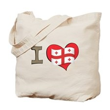 I heart Georgia Tote Bag