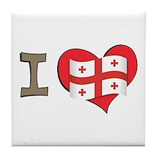 I heart Georgia Tile Coaster