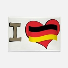 I heart Germany Rectangle Magnet