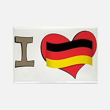 I heart Germany Rectangle Magnet (100 pack)