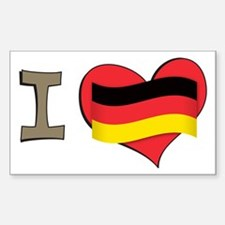 I heart Germany Rectangle Decal