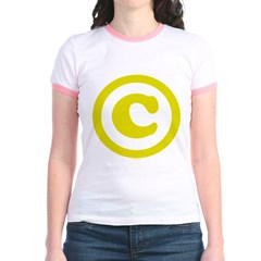 Copyright Symbol Jr. Ringer T-Shirt