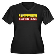 Piece-Keepers Keep The Peace Women's Plus Size V-N