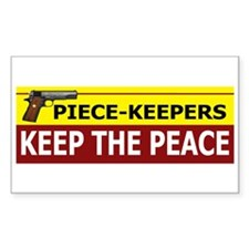 Piece-Keepers Keep The Peace Rectangle Decal