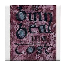 Ireland. ink. Tile Coaster