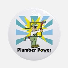 Plumber Power Ornament (Round)