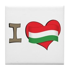 I heart Hungary Tile Coaster