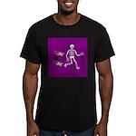 Pug-o-ween Bones Men's Fitted T-Shirt (dark)