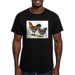 Ameraucana Fowl Men's Fitted T-Shirt (dark)