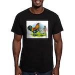 Ameraucana Chickens Men's Fitted T-Shirt (dark)