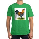 Easter Egg Rooster Men's Fitted T-Shirt (dark)
