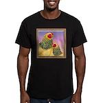 Buff Brahma Chickens Men's Fitted T-Shirt (dark)