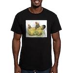 Buff Brahma Pair Men's Fitted T-Shirt (dark)