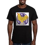 Buff Chantecler Cock Men's Fitted T-Shirt (dark)