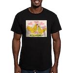 Buff Chantecler Hearts Men's Fitted T-Shirt (dark)