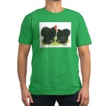 Black Frizzle Cochins Men's Fitted T-Shirt (dark)